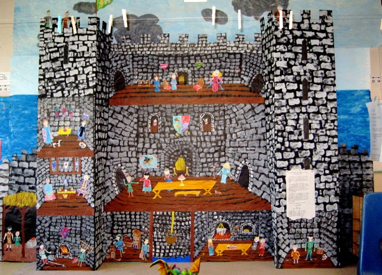An image of the Castle frieze from the Knights Of The Roundtable Storyline