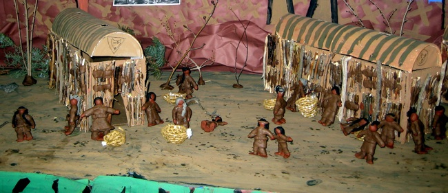 Clay characters from the storyline.