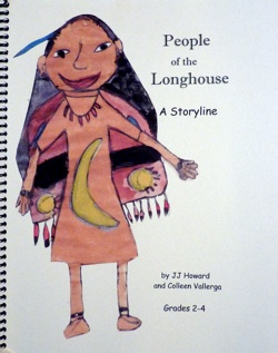 An image of the cover of the People Of The Longhouse Storyline Resource Book